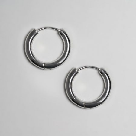 Classic Ring Big Earrings Silver