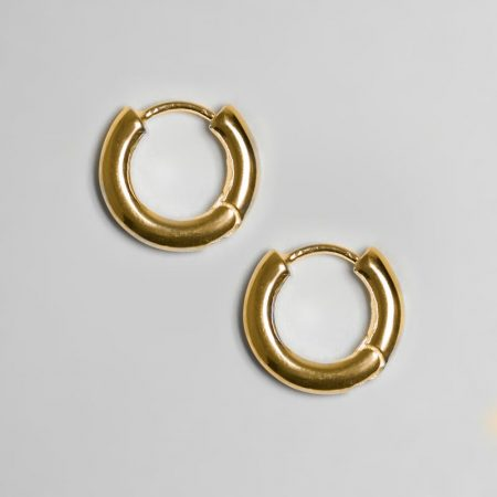 Classic Ring Earring Gold