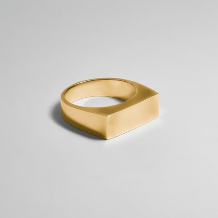Paris Rectangle Signet Ring Gold