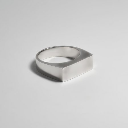 Paris Rectangle Signet Ring Silver