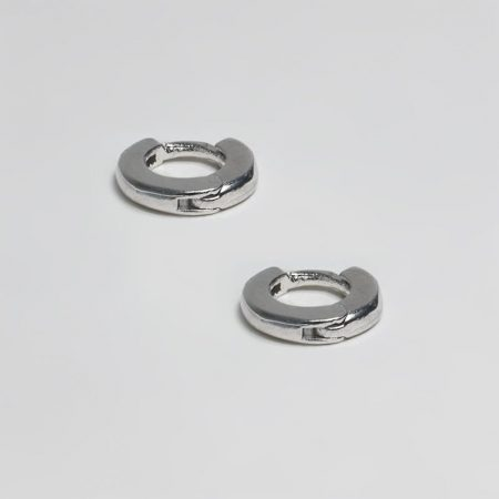 Small Flat Ring Earrings
