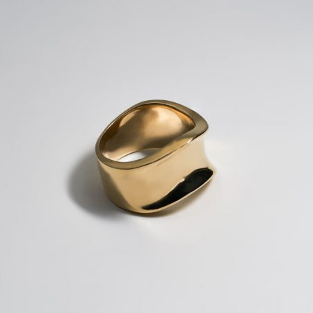 Wave Crush Ring Gold