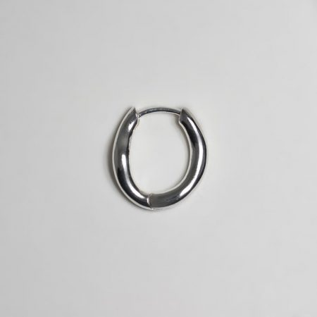 Wave Oval Small Ring Earrings