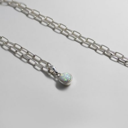 Lou Round Opal Necklace
