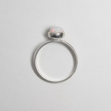Lou Round Opal Ring