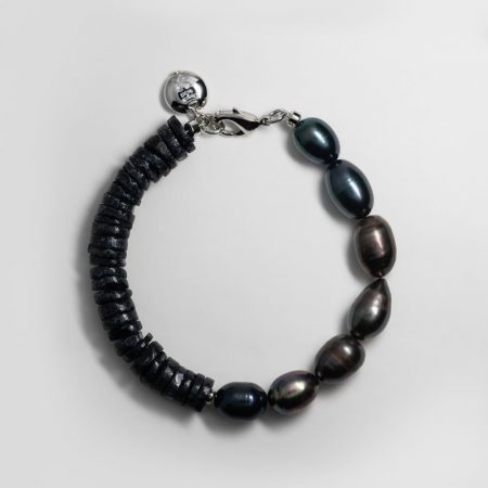 Dark Pea Half Shell Bracelet