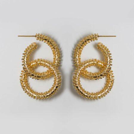Buzz Double Gold Earrings