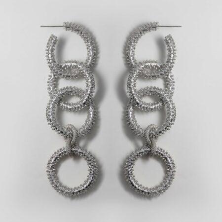 Buzz Chain Gold Earrings