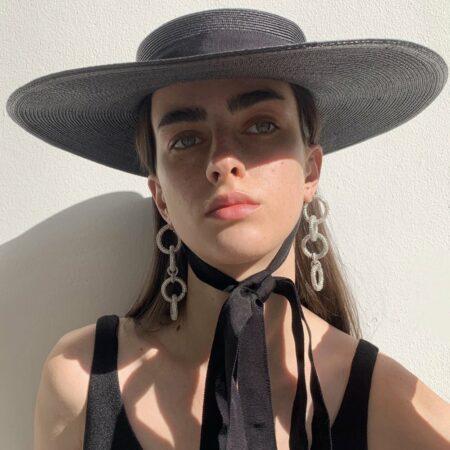 Buzz Chain Silver Earrings