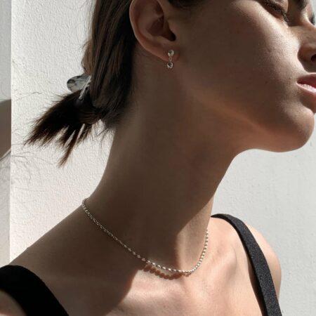 Donna Drop Earrings Silver
