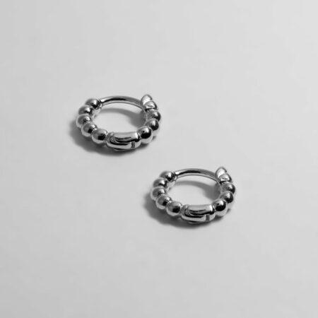 Donna Mini Earrings Silver