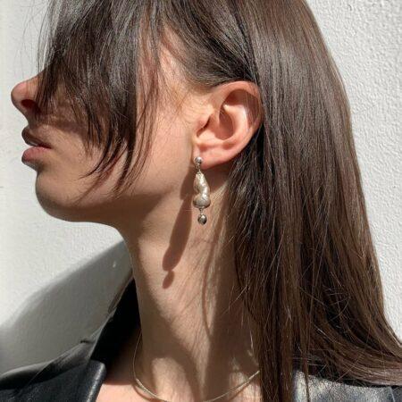 Donna Silver Lana Drop Earrings