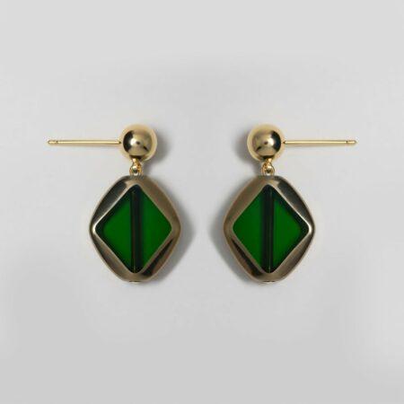 Green Envy Diamond Earrings