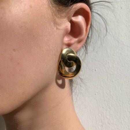 Kelly Chain Gold Earrings