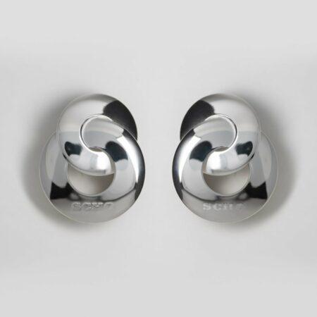 Kelly Chain Silver Earrings