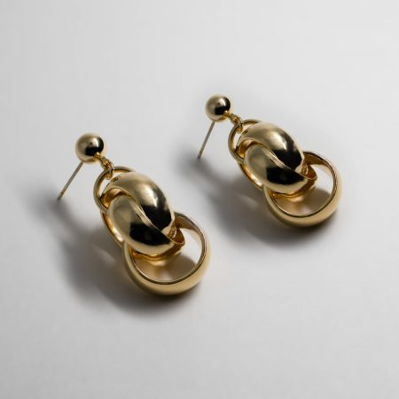 Kelly Round Chain Lux Earrings