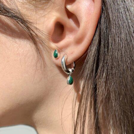 Lou Malachite Classic Earrings
