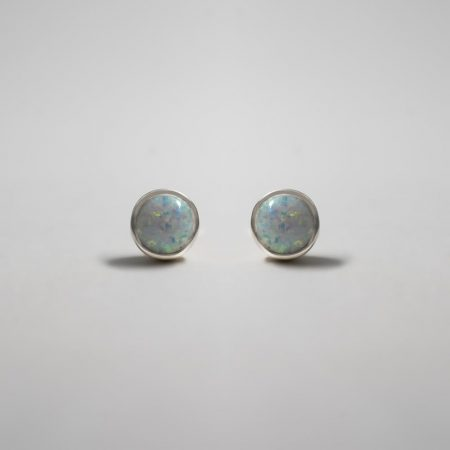 Lou Round Opal Earrings