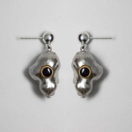 Silver Lana Onyx Earrings
