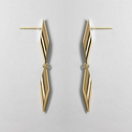 Trinity Deux Gold Earrings