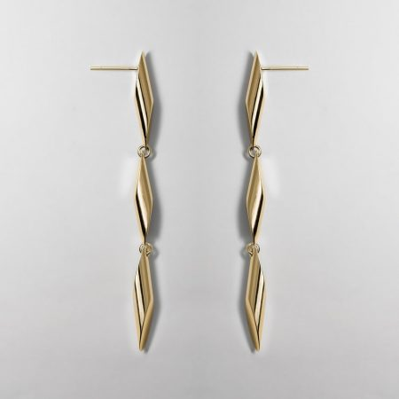 Trinity Trois Gold Earrings