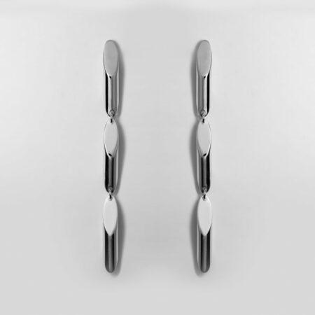 Trinity Trois Silver Earrings