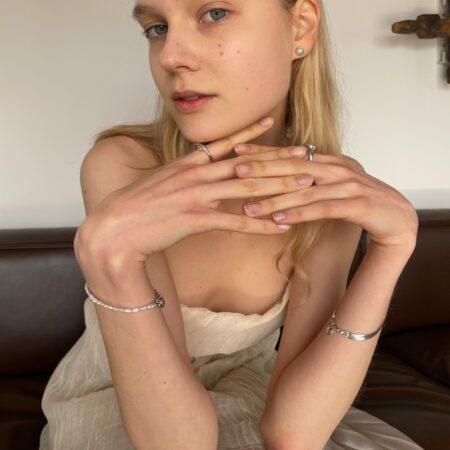 Lana Rice Pearl Bracelet Silver