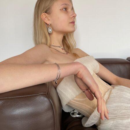 Tweed Double Chain Bracelet
