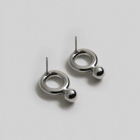 Grace Metal Earrings Silver
