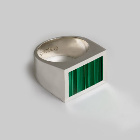 Hero Max Malachite Rectangle Ring